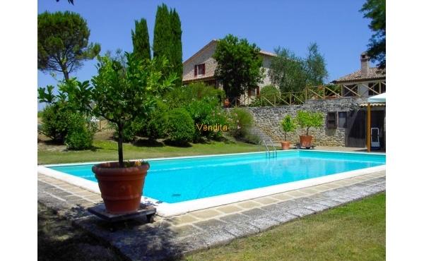 Azienda agricola con piscina in vendita ad Orvieto